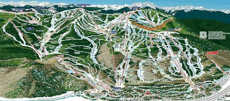 Vail ski area Trail Map