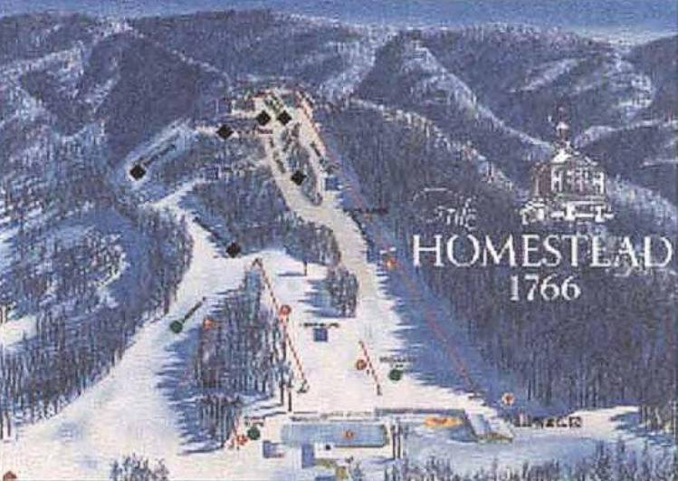 Skiing Virginia Map.The Homestead